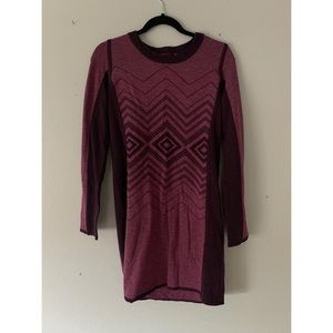 Prana Purple Geometric Sweater Dress Small
